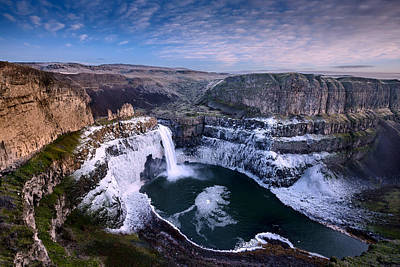 Photograph - Winter At Palouse Falls by Dan Mihai