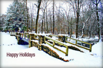 Photograph - Winter At Petrifying Springs Christmas Card by Kay Novy