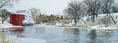 Winter At Phelps Mill Art Print