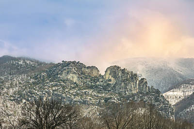 Photograph - Winter At Seneca Rocks by Mary Almond