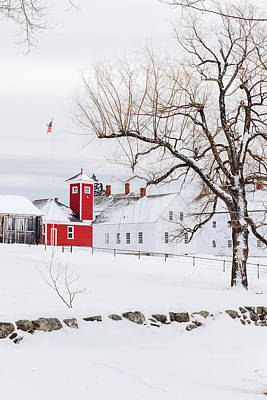 Print featuring the photograph Winter At Shaker Village by Robert Clifford