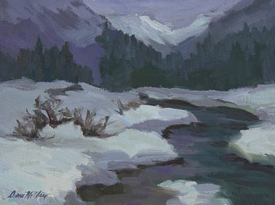 Painting - Winter At Snoqualmie Pass by Diane McClary
