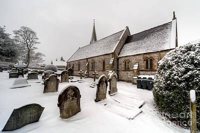 Winter At St Paul Art Print by Adrian Evans
