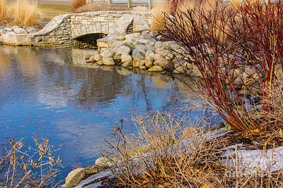 Photograph - Winter At Stone Bridge Pond by Bill Woodstock