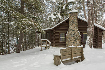 Itasca State Park Photograph - Winter At The Cabin by Tim Grams