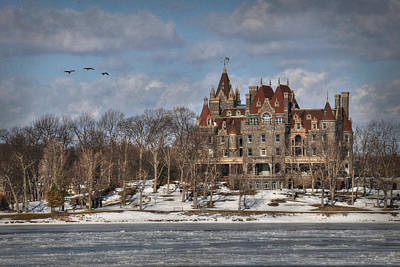 Winter At The Castle Art Print
