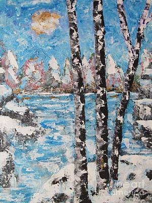 Winter At The Falls Original by Beverly Livingstone