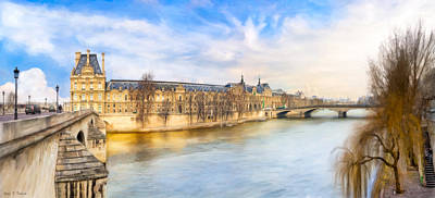 Photograph - Winter At The Louvre In Paris by Mark E Tisdale