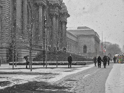 Photograph - Winter At The Met by Cornelis Verwaal