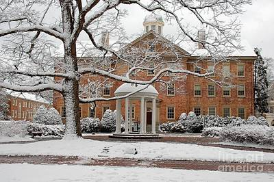 Tarheels Photograph - Winter At The Old Well Unc by David Gellatly