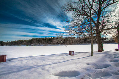 Photograph - Winter At The Pond by Brian MacLean