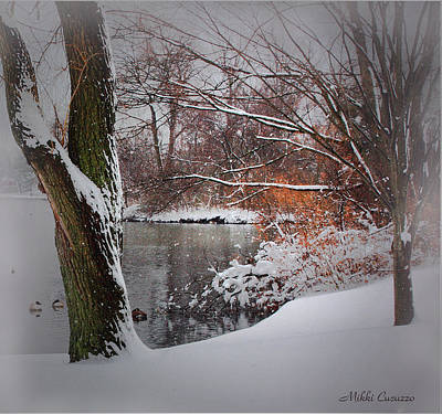 Winter At The Pond Art Print by Mikki Cucuzzo