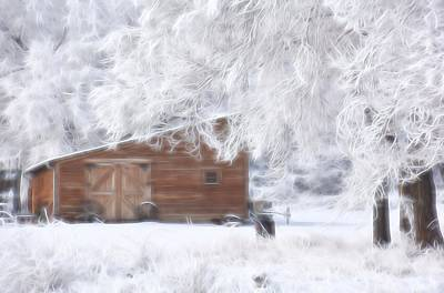 Photograph - Winter At The Ranch 1 by Diane Alexander