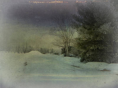 Winter Atmosphere  Art Print by Dianne  Lacourciere