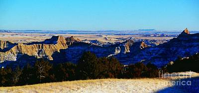 Photograph - Winter Badlands by Desiree Paquette
