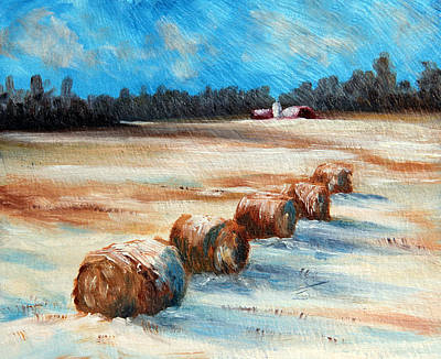 Winter Bales Original by Meaghan Troup