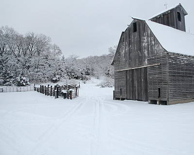 Photograph - Winter Barn 2 by Coby Cooper