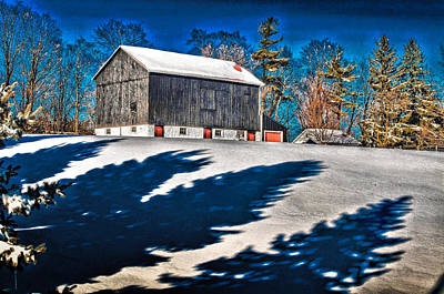 Photograph - Winter Barn 2013 by Douglas Pike