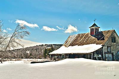 Photograph - Winter Barn by Alana Ranney