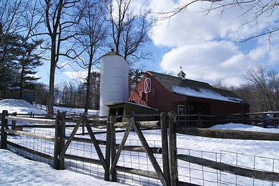 Photograph - Winter Barn And Silo by Margie Avellino