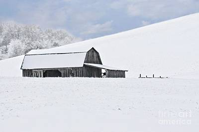 Winter Barn Art Print by Benanne Stiens