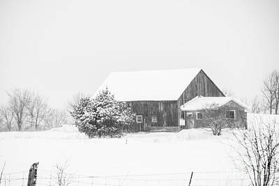 Photograph - Winter Barn by Cheryl Baxter