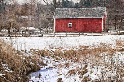 Photograph - Winter Barn by Dale Kincaid