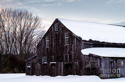 Dover Downs Photograph - Winter Barn by Dawna  Moore Photography
