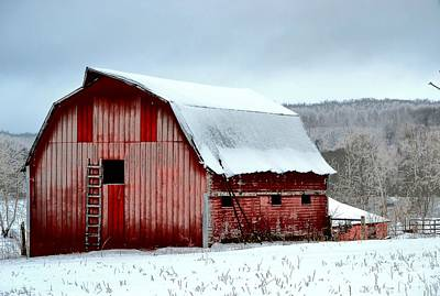 Photograph - Winter Barn by Deena Stoddard