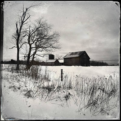 Photograph - Winter Barn by Fred LeBlanc