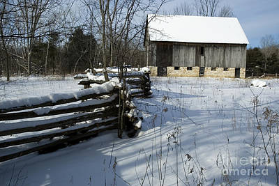 Photograph - Winter Barn I by Jessie Parker