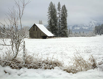 Winter Barn Art Print by Idaho Scenic Images Linda Lantzy