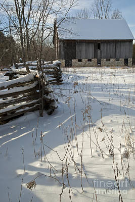 Photograph - Winter Barn II by Jessie Parker