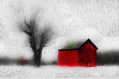Photograph - Winter Barn by Michael Arend