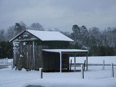 Photograph - Winter Barn by Nelson Watkins