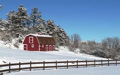 Barns In Snow Photograph - Winter Barn by Paula Contreras