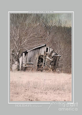 Photograph - Winter Barn Scene Christmas Cards by Jai Johnson