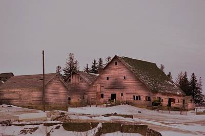 Photograph - Winter Barns by Bonfire Photography