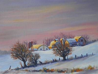 Painting - Winter Barns by Sharon Casavant