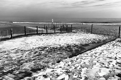 Photograph - Winter Beach Mono by John Rizzuto