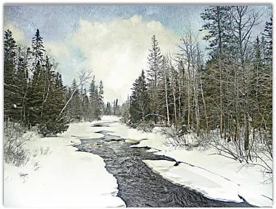 Winter Beauty  Art Print by Dianne  Lacourciere