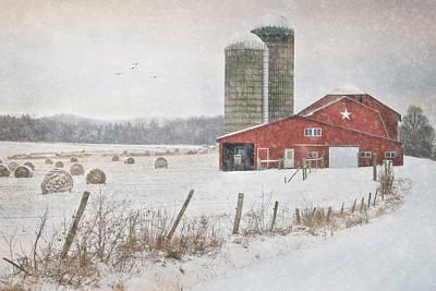 Bale Digital Art - Winter Begins by Lori Deiter