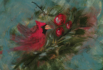 Painting - Winter Berries by Lee Beuther