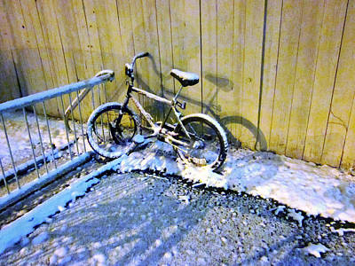 Photograph - Winter Bicycle by Guy Ricketts