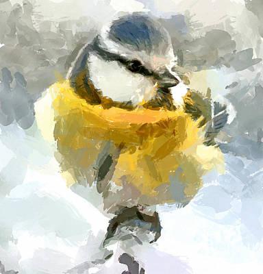 Pet Portraits Digital Art - Winter Bird 6 by Yury Malkov