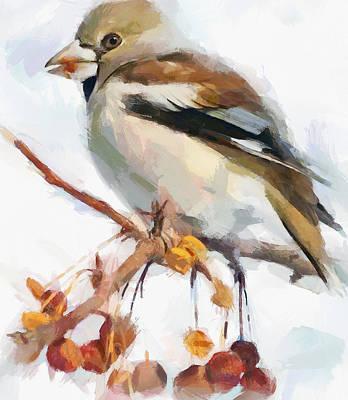 Pet Portraits Digital Art - Winter Bird 7 by Yury Malkov
