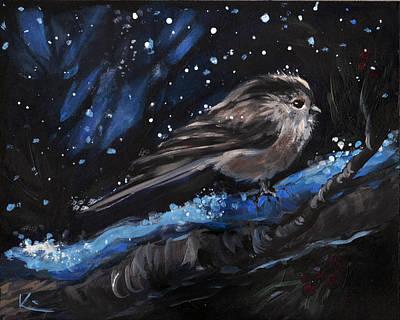 Animal Painting - Winter Bird by Kim Marshall