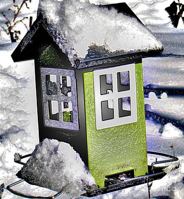 Art Print featuring the photograph Winter Birdfeeder by Nina Silver
