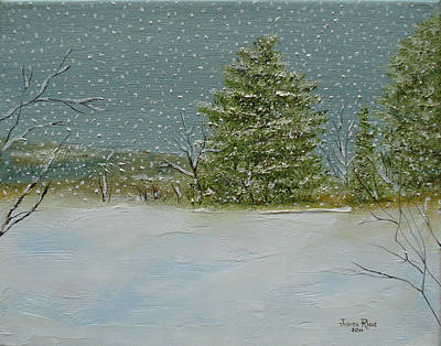 Winter Blanket Art Print by Judith Rhue