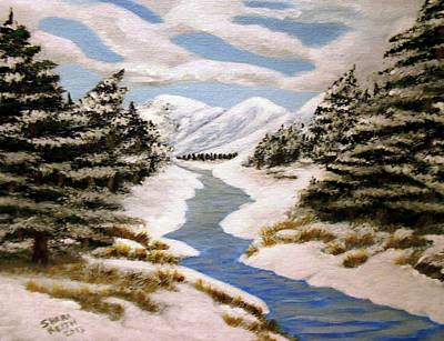 Art Print featuring the painting Winter Bliss by Sheri Keith